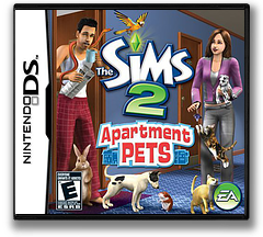 The Sims 2 - Apartment Pets DS cover (CAPE)