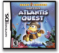 Crazy Chicken Jump'n Run - Atlantis Quest DS cover (CMVE)