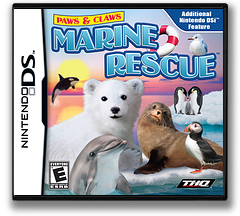 Paws & Claws - Marine Rescue DS cover (VMEE)
