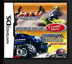 2 Game Pack! - Monster Trucks Mayhem + ATV - Thunder Ridge Riders DS cover (YAME)