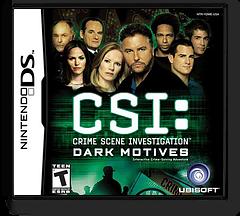 CSI - Crime Scene Investigation - Dark Motives DS cover (YDME)