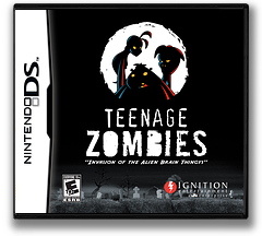 Teenage Zombies - Invasion of the Alien Brain Thingys DS cover (YTZE)
