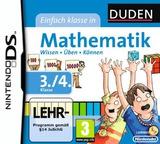 Duden - Einfach Klasse in Mathematik - 3. und 4. Klasse DS cover (BU6D)