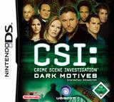 CSI - Crime Scene Investigation - Dark Motives DS cover (YDMP)