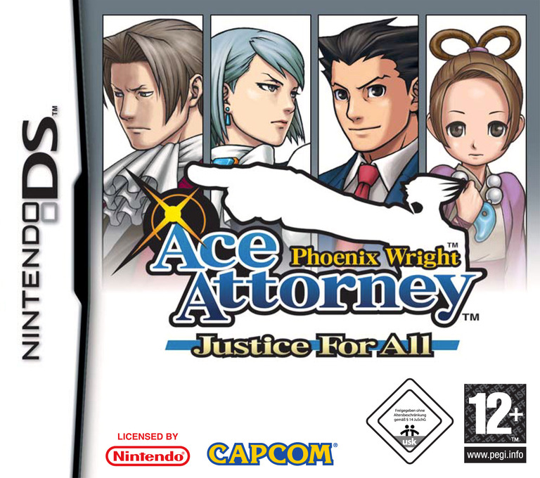 Phoenix Wright - Ace Attorney - Justice for All DS coverHQ (A2GX)