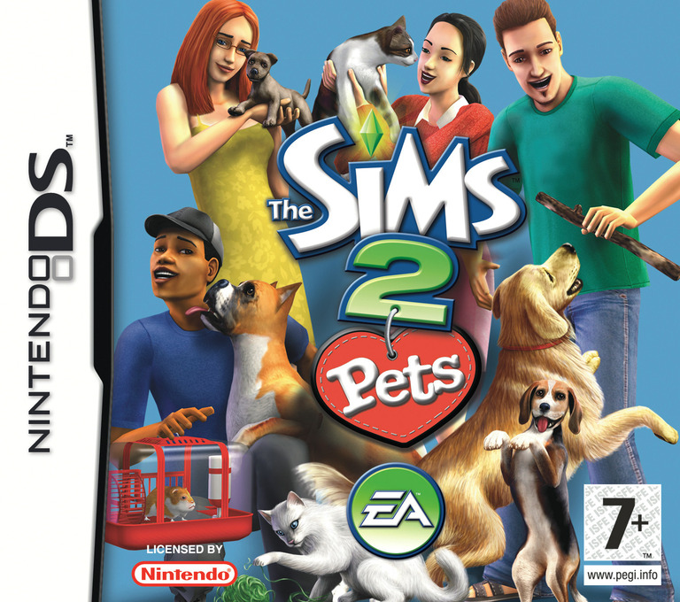 The Sims 2 - Pets DS coverHQ (A4OP)