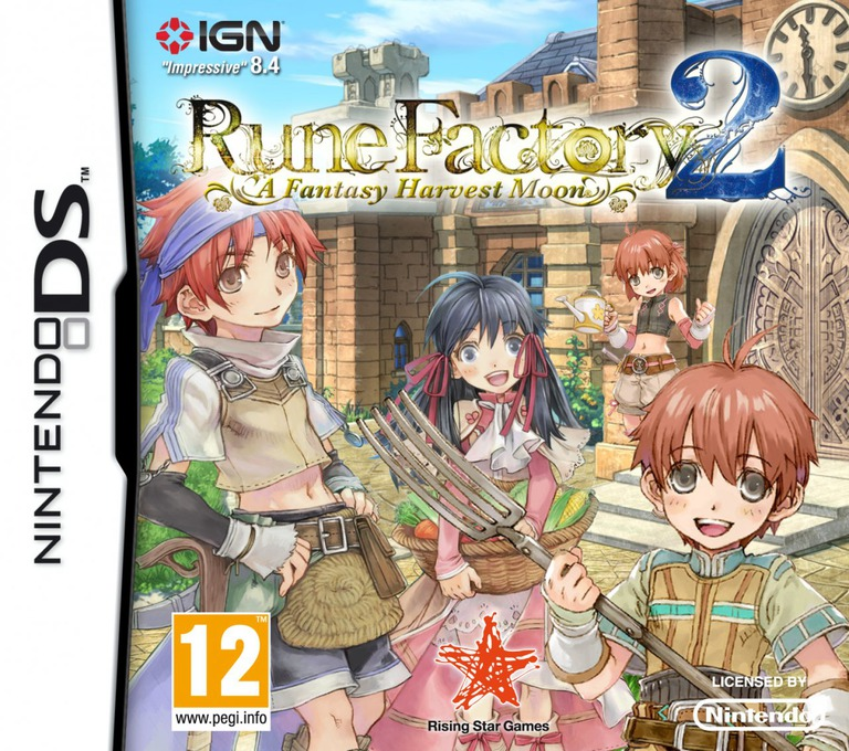Rune Factory 2 - A Fantasy Harvest Moon DS coverHQ (A6NP)