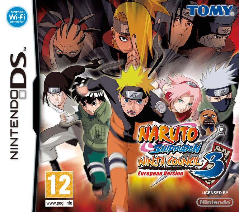 Naruto Shippuden - Ninja Council 3 - European Version DS coverHQ (AENP)