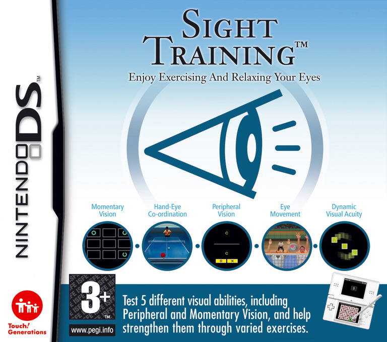 Sight Training - Enjoy Exercising and Relaxing Your Eyes DS coverHQ (AG3P)