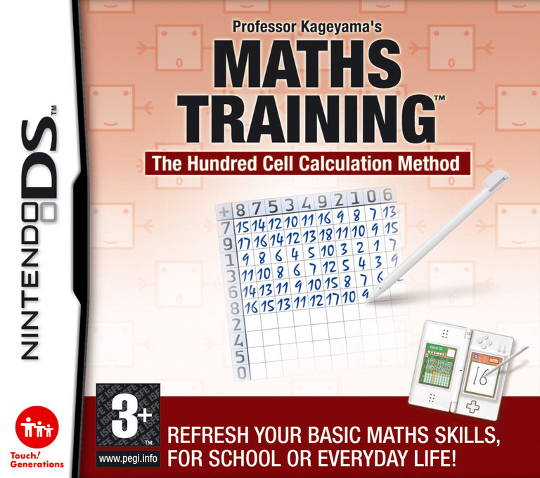 Professor Kageyama's Maths Training - The Hundred Cell Calculation Method DS coverHQ (AIZP)