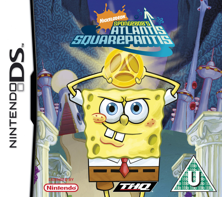 SpongeBob's Atlantis SquarePantis DS coverHQ (AL3P)