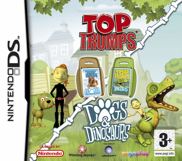 Top Trumps - Dogs & Dinosaurs DS coverHQ (AOQP)
