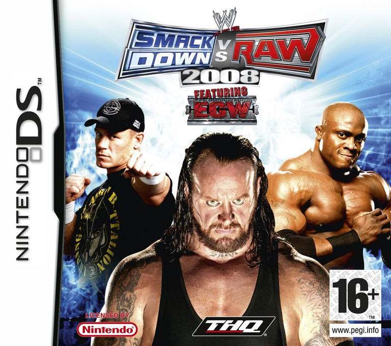 WWE SmackDown vs Raw 2008 featuring ECW DS coverHQ (AW8P)