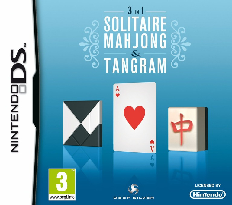 3 in 1 - Solitaire, Mahjong & Tangram DS coverHQ (B7LP)