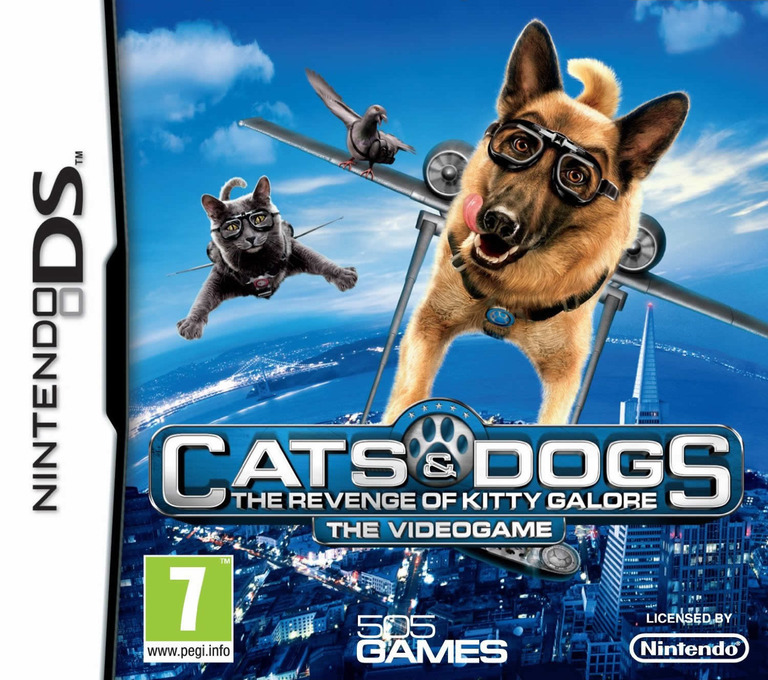 Cats & Dogs - The Revenge of Kitty Galore - The Videogame DS coverHQ (BD3P)