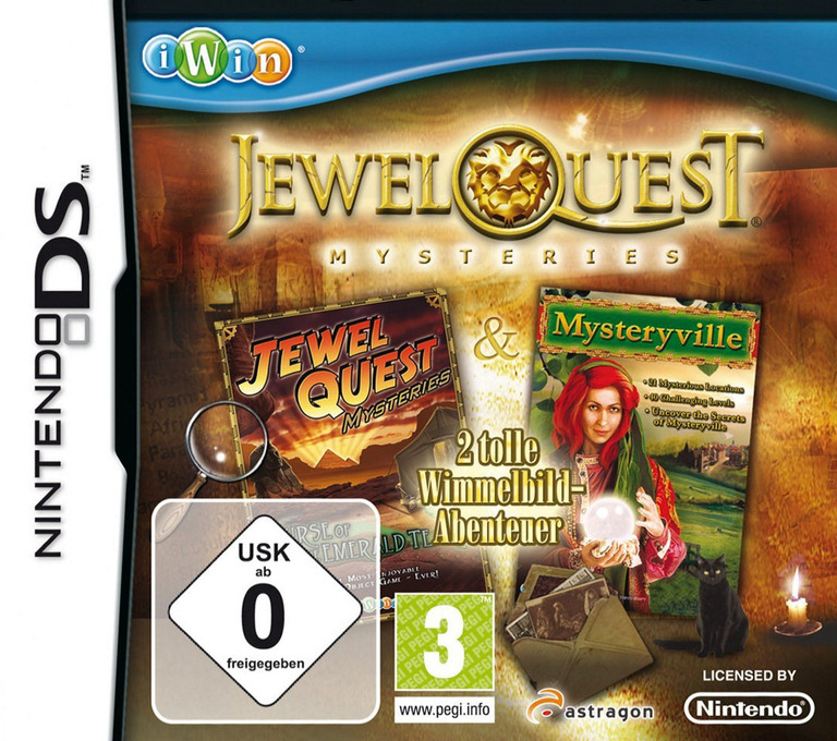 Jewel Quest Mysteries 2 - Tolle Wimmelbild-Abenteuer DS coverHQ (BJYD)