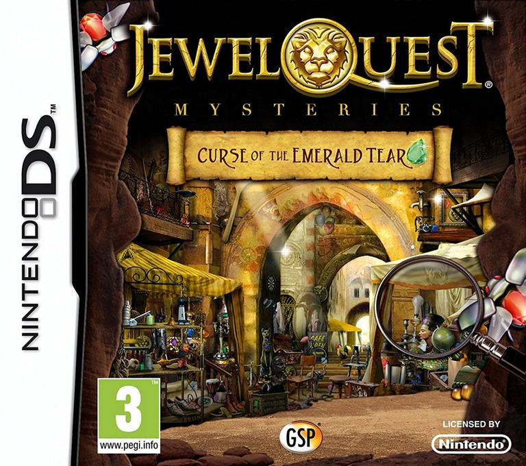 Jewel Quest - Mysteries - Curse of the Emerald Tear DS coverHQ (BJYP)