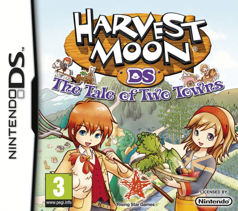 Harvest Moon - The Tale of Two Towns DS coverHQ (BKUP)