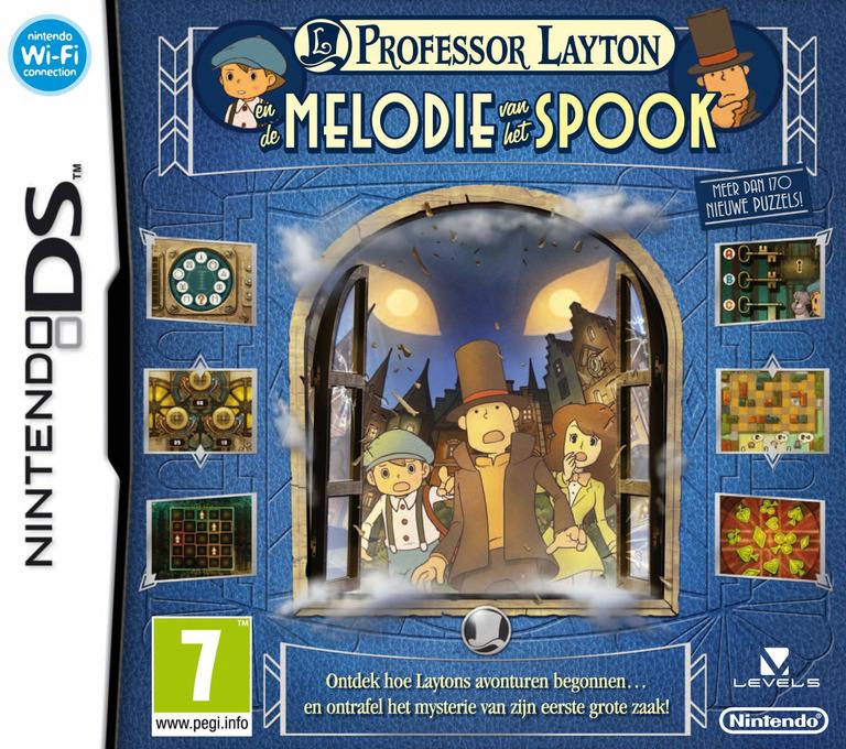 Professor Layton en de Melodie van het Spook DS coverHQ (BLFH)