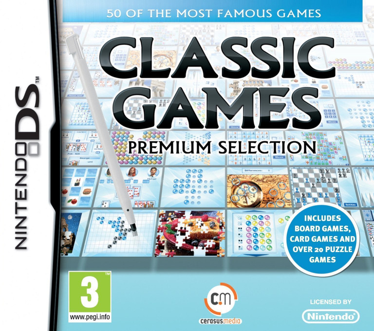 Classic Games - The Premium Selection DS coverHQ (BPRP)