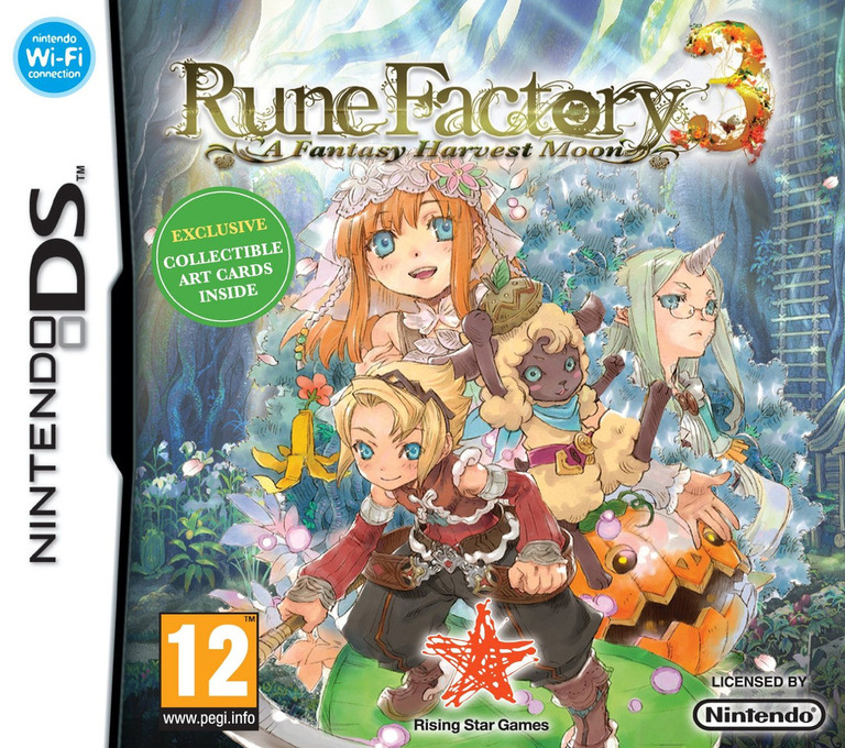 Rune Factory 3 - A Fantasy Harvest Moon DS coverHQ (BRFP)