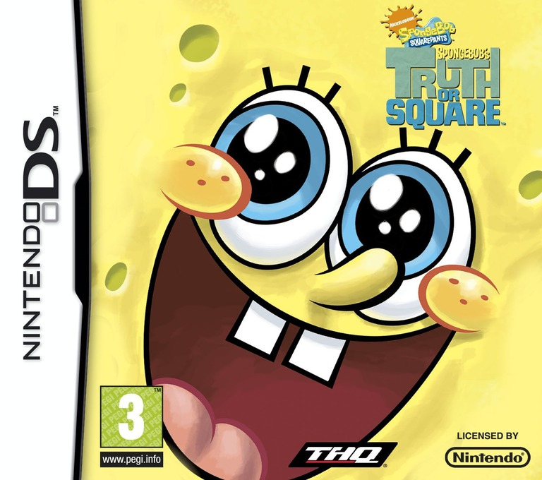 SpongeBob - SpongeBob's Truth or Square DS coverHQ (BSOP)