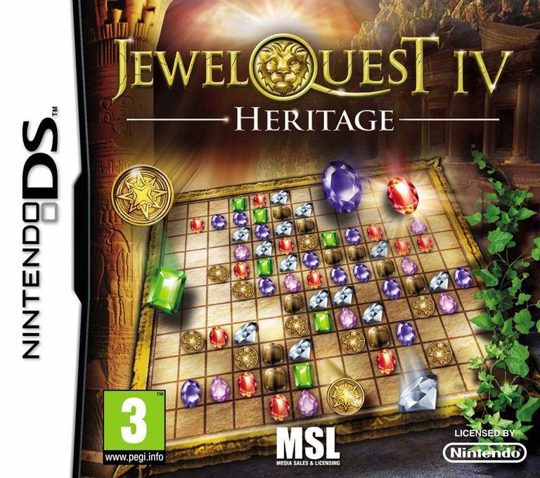 Jewel Quest IV - Heritage DS coverHQ (BV8P)