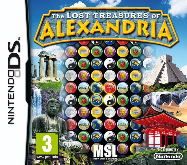 The Lost Treasures of Alexandria DS coverHQ (BVTP)