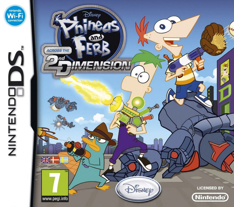 Phineas and Ferb - Across the 2nd Dimension DS coverHQ (BZFX)