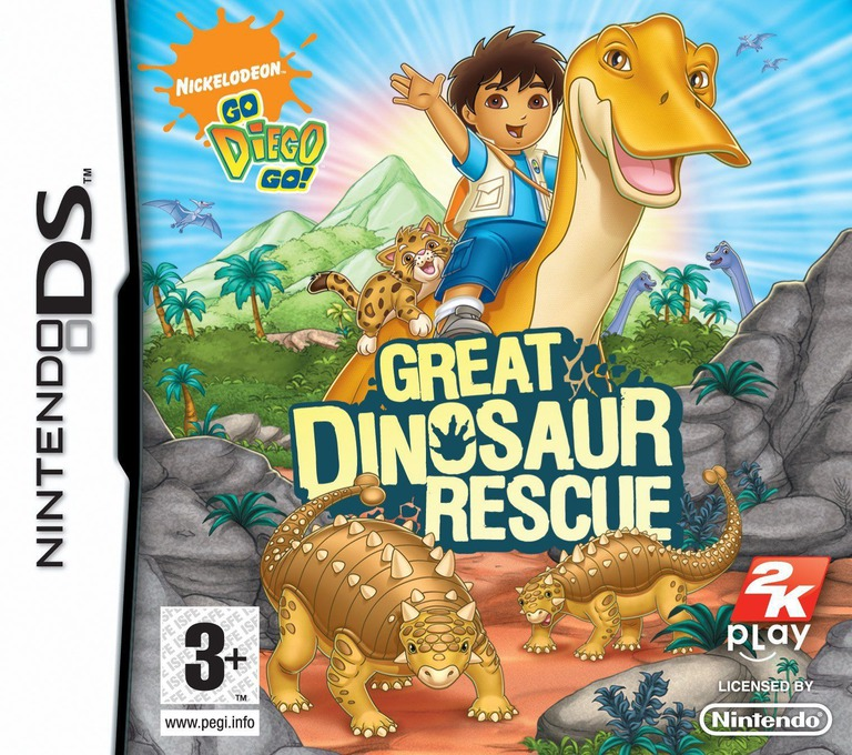 Go, Diego, Go! - Great Dinosaur Rescue DS coverHQ (CGDP)
