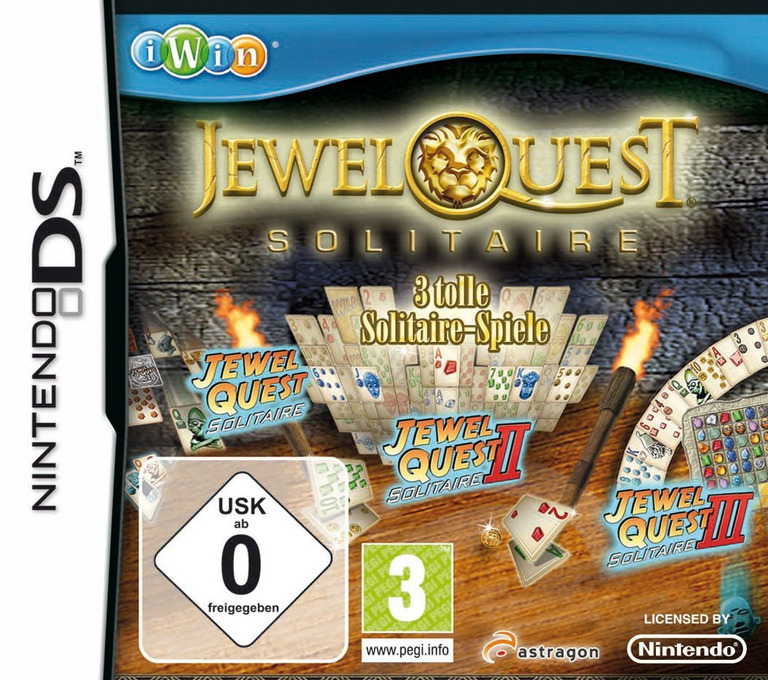 Jewel Quest - Solitaire - 3 Tolle Solitaire-Spiele DS coverHQ (CNAD)