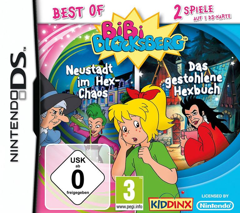 2 in 1 - Best of Bibi Blocksberg - Neustadt im Hex-Chaos + Das Gestohlene Hexbuch DS coverHQ (TBDD)