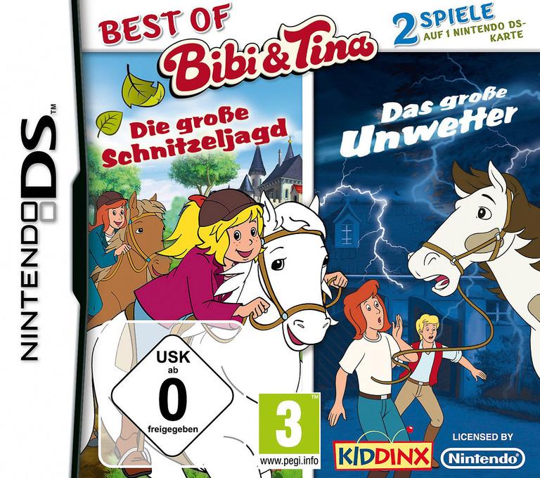 2 in 1 - Best of Bibi Und Tina - Die Grosse Schnitzeljagd + Das Grosse Unwetter DS coverHQ (TBUD)