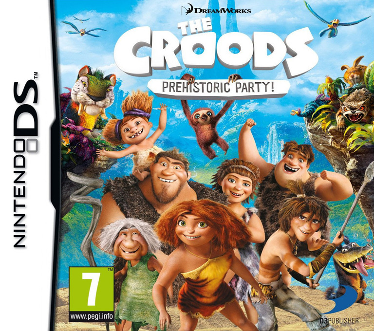 The Croods - Prehistoric Party! DS coverHQ (TCDP)