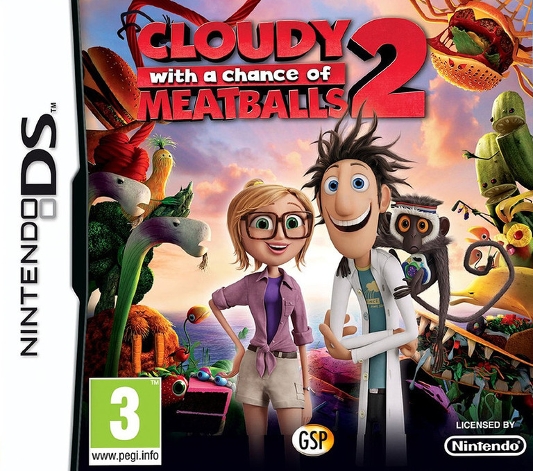 Cloudy with a Chance of Meatballs 2 DS coverHQ (TCNX)