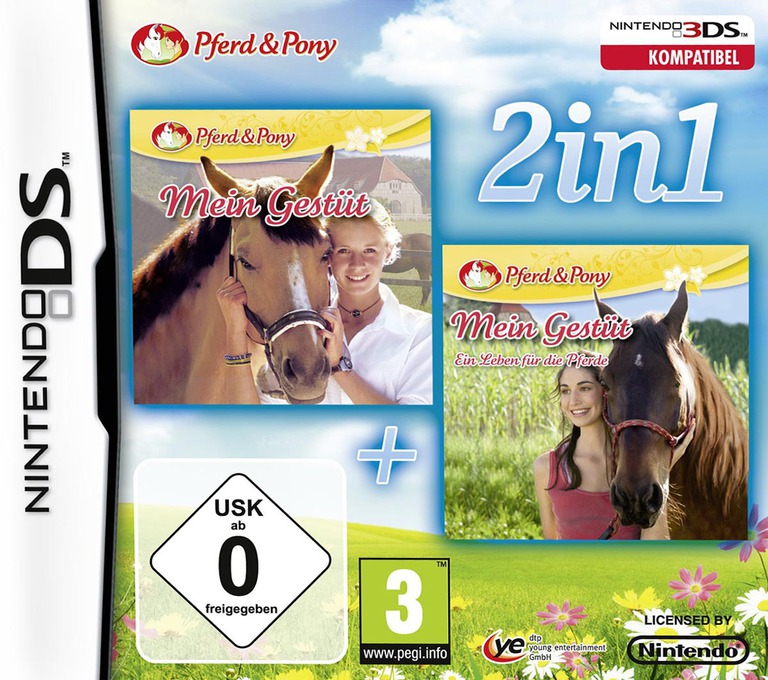 2 in 1 - My Riding Stables + My Riding Stables - Life with Horses DS coverHQ (TMGP)
