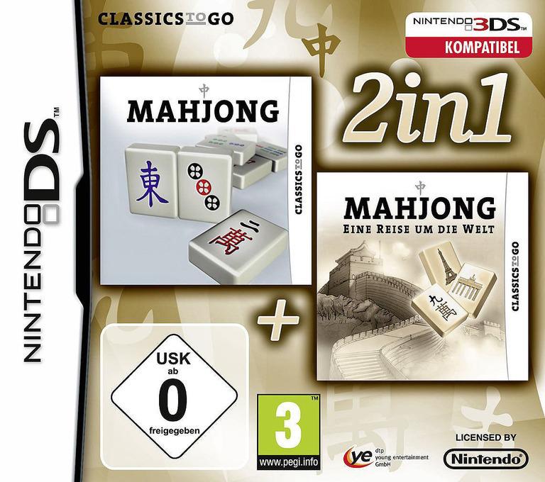 2 in 1 - Mahjong + Mahjong Around the World DS coverHQ (TMZP)