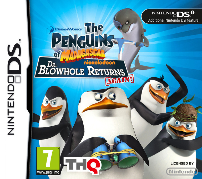 The Penguins of Madagascar - Dr. Blowhole Returns Again! DS coverHQ (VP9V)
