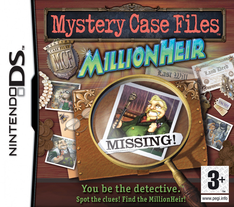Mystery Case Files - MillionHeir DS coverHQ (YFCP)