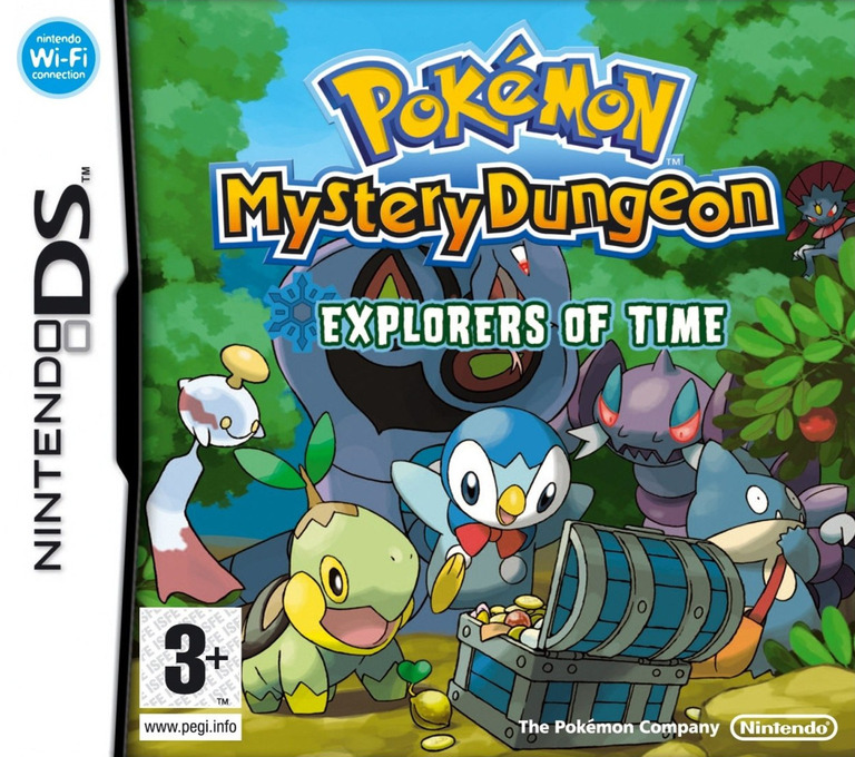 Pokémon Mystery Dungeon - Explorers of Time DS coverHQ (YFTP)