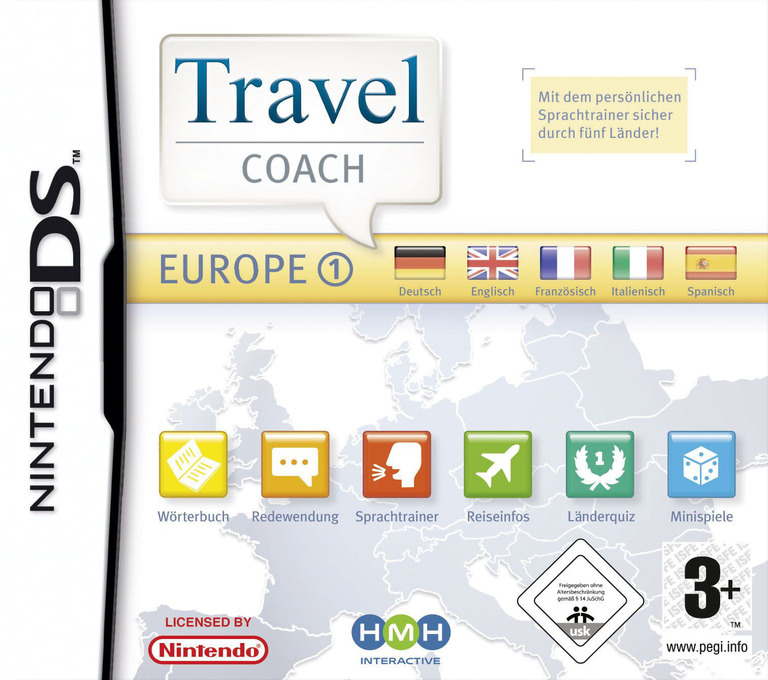 Travel Coach - Europe 1 DS coverHQ (YJ5P)