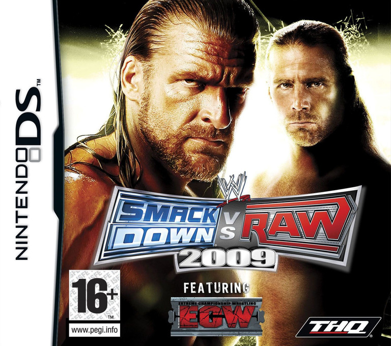 WWE SmackDown vs Raw 2009 featuring ECW DS coverHQ (YW9X)
