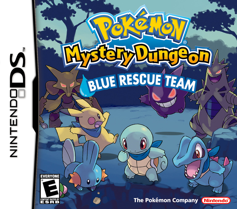 Pokémon Mystery Dungeon - Blue Rescue Team DS coverHQ (APHE)