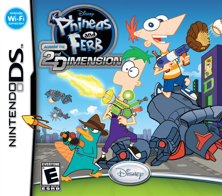 Phineas and Ferb - Across the 2nd Dimension DS coverHQ (B5VE)