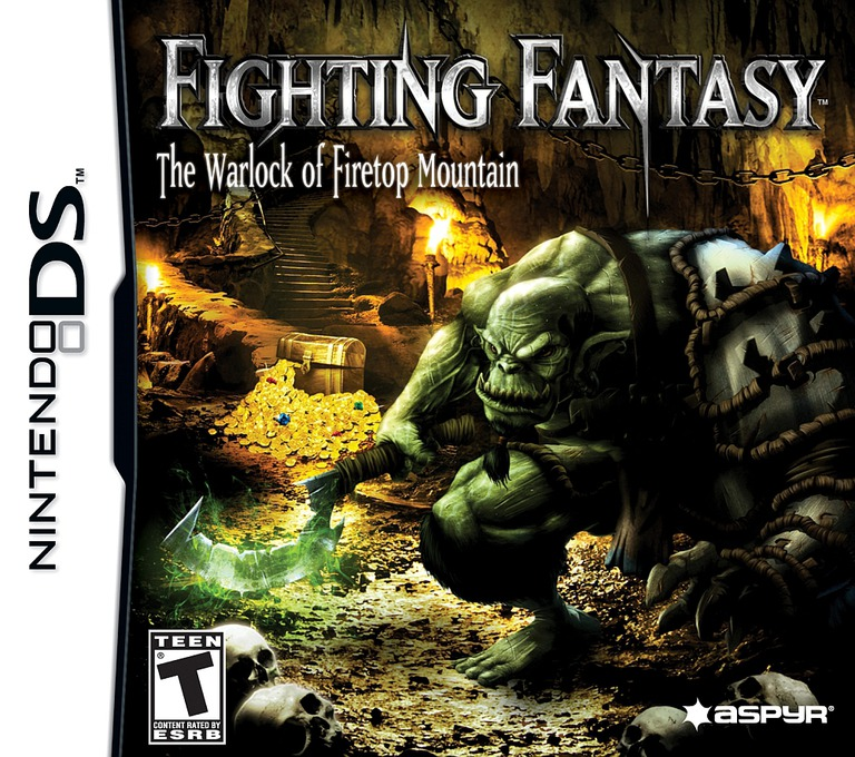 Fighting Fantasy - The Warlock of Firetop Mountain DS coverHQ (BFGE)