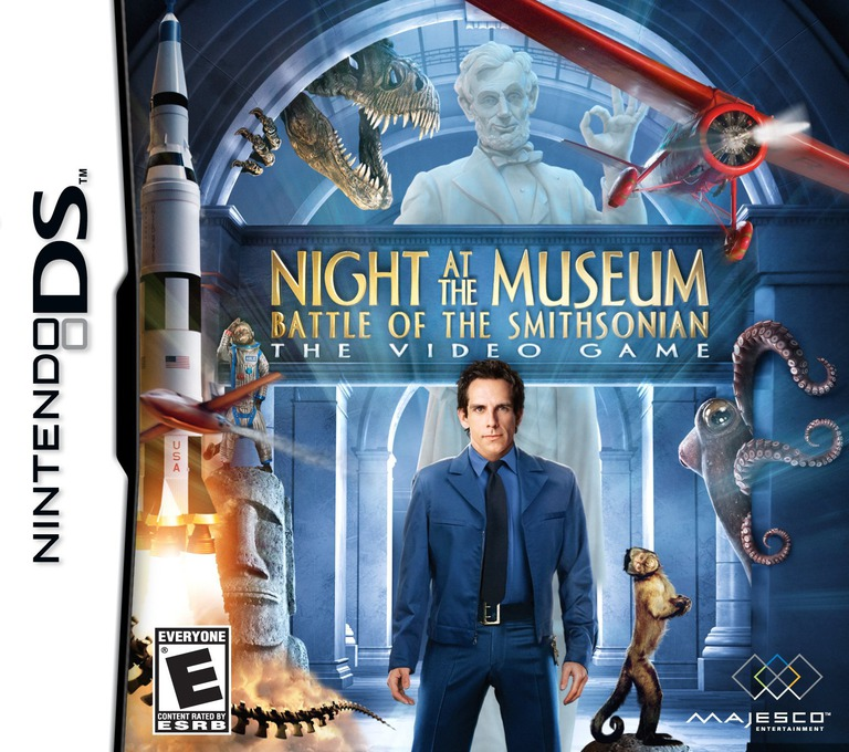 Night at the Museum - Battle of the Smithsonian - The Video Game DS coverHQ (BNME)