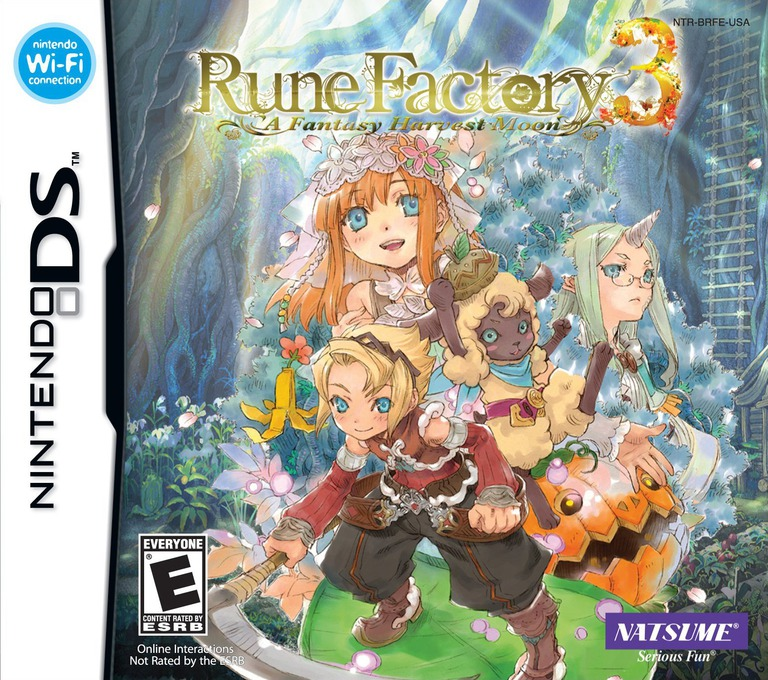Rune Factory 3 - A Fantasy Harvest Moon DS coverHQ (BRFE)