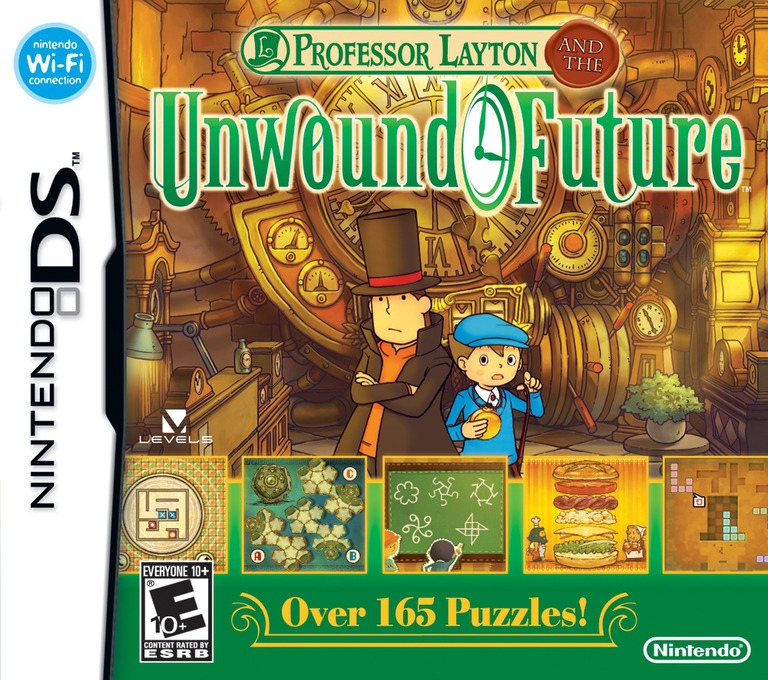 Professor Layton and the Unwound Future DS coverHQ (C3JE)