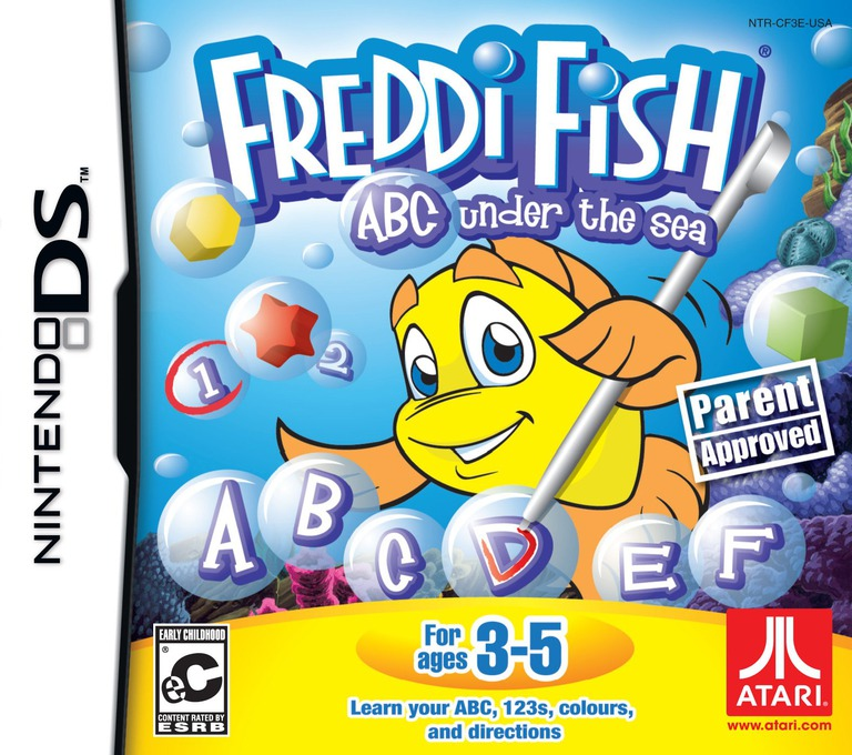 Freddi Fish - ABC under the Sea DS coverHQ (CF3E)