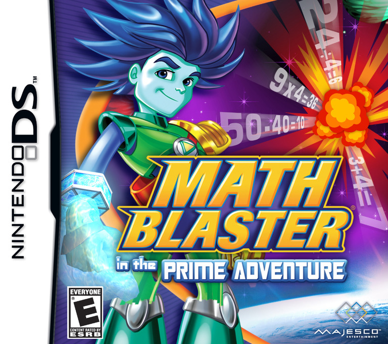 Math Blaster in the Prime Adventure DS coverHQ (CKXE)